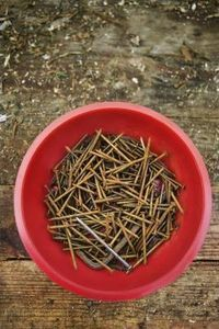 How to Make Nails Rusty - I can't use new nails to hang my rustic items.