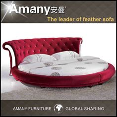 Hot Selling King Round Bed T1111p - Buy Round Bed,King Size Round Bed,Modern Round Bed Product on Alibaba.com