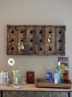 Riddling Rack Wine Rack by UptownArtisan on Etsy ---for dining room