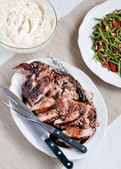 Slow-Cooker Herbed Balsamic Pork Roast via cafejohnsonia.com