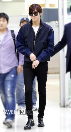 Lee Min Ho | airport fashion