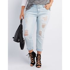 Plus Size Refuge Skinny Boyfriend Jeans #CharlotteRussePlus ...