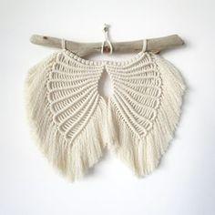 Angel Wings Pattern/Tutorial   Etsy Diy Angel Wings, Diy Wings, Macrame Wall Hanging Patterns, Macrame Patterns, Kit Diy, Bohemian Tapestry, Art Du Fil, Star Diy, The Knot