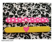 """Hangers for 18 inch Dolls, really simple: Cup hooks, jumbo craft sticks, glue, and paint!  Also would be great for my little dog """" data-componentType=""""MODAL_PIN"""