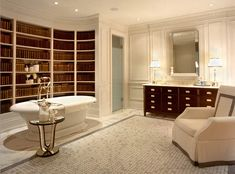I'm not sure I've ever been so in love with a room. It gives a whole new meaning to relaxing in the tub with a good book.