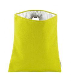 Gewoon #HANGBAG in Lime en Lemon // De hele collectie staat op www.gewoonnl.nl // #opberger #GewoonNL #vilt #felt