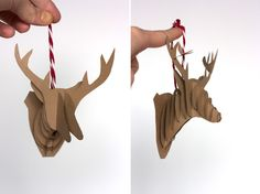 Paper Reindeer Ornament Step 6 One Little Minute Blog DIY Paper Reindeer Ornaments