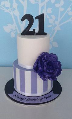 Peony 21st Cake  Cake by NyN