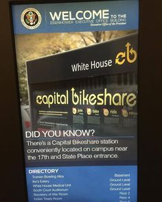 The White House encouraging employees to use bikeshare since 2010. #WHDisability by oddrobb #WhiteHouse #USA