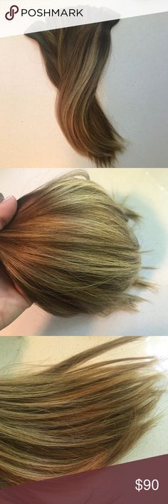 """Babe Tape In Hair Extensions Eva 6/10 40 Pieces ◽️40 pieces of tape in extensions  ◽️Have been worn ◽️Color 6/10 """"Eva"""" medium brown w/ light blonde highlights ◽️Photos were taken in natural light and not filtered so color pictured is true ◽️Last pic is what they look like/length when installed - mixed with my natural hair 💰Reasonable offers encouraged  🛍Bundle discounts - the bigger the bundle the more you save! 📦24 hour shipping 🚭Smoke & pet free home ⚠️I do not answer """"lowest?"""" •…"""