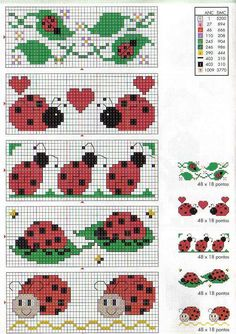Schema punto croce Coccinelle A Butterfly Cross Stitch, Mini Cross Stitch, Cross Stitch Animals, Cross Stitching, Cross Stitch Embroidery, Embroidery Patterns, Hand Embroidery, Cross Stitch Designs, Cross Stitch Patterns