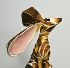 'Peanut' Hare paper sculpture by Suzanne Breakwell www.suzannebreakwell.com