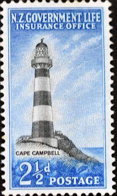 New Zealand (612) 1947 -1965 Lighthouses