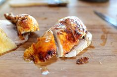 """Pioneer Woman Roast Chicken-  This is my """"Go To"""" chicken recipe. My trick is to split the chicken down the back and lay it flat breast side up. I change up the taste by using different herbs. My current favorite is chili powder, garlic powder, cayenne pepper, sea salt and black pepper. Great low carb staple."""