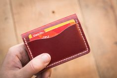 Cherry 5 Card Leather Wallet