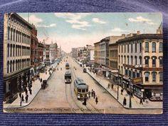 Vintage Postcard c1915 Grand Rapids MI Canal Street Trolleys Town View  | eBay Grand Rapids Michigan, Street View, History, World, Ebay, Vintage, Historia, The World, Vintage Comics