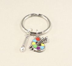 Artist Key Chain Palette Charm Christmas Birthday Stocking Stuffer Gift Ideas For Artists And Painters
