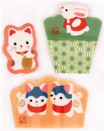 small Kyoto lucky animal Baran divider sheets Bento Box Lunch Box