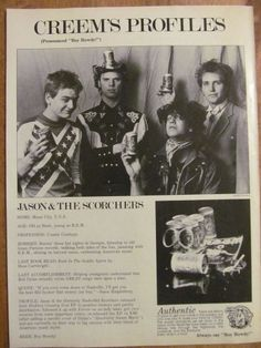 Jason and the Scorchers, Full Page Vintage Clipping