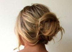 Beautiful messy but formal bun hairstyle