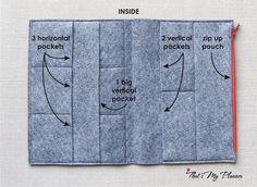 Notebook colorato feltro inserire A5 feltro Zip di ThatsMyPlanner