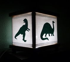 Dinosaur Night Light Lamp Green Dinosaurs Trex by babymamma1, $23.00