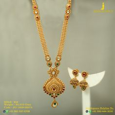 Gold 916 Premium Design Get in touch with us on Gold Mangalsutra Designs, Gold Earrings Designs, Gold Haram Designs, Antique Jewellery Designs, Gold Jewellery Design, Designer Jewelry, Gold Jewelry Simple, Gold Necklace, Antique Necklace