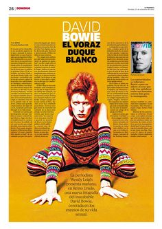 David Bowie. El voraz duque blanco. #layout #diseñoeditorial #magazine