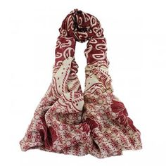 Print Long Multicolor Chiffon Fashion Scarves For Women