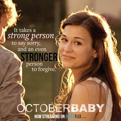 How strong are you? Can you forgive, even those who don't apologize? Christian Films, Christian Music, Christian Quotes, Inspirational Quotes For Teens, Uplifting Quotes, Positive Thoughts, Positive Quotes, Baby Movie, October Baby