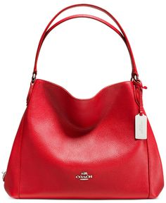 COACH EDIE SHOULDER BAG 31 IN REFINED PEBBLE LEATHER - Handbags & Accessories - Macy's