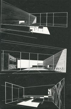 Craig Ellwood, Arts and Architecture, Sep 1950 Architecture Panel, Architecture Graphics, Architecture Student, Architecture Drawings, Architecture Portfolio, Landscape Architecture, Interior Architecture, Interior Design, Master Arquitectura
