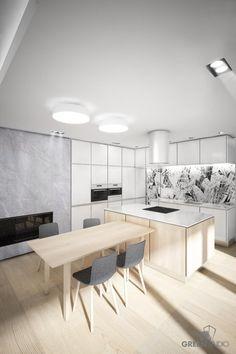 Interiér nízkoenergetického domu na Ahoji - kuchyňa
