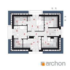 Dom w śliwach 2 Micro House, House Plans, Floor Plans, How To Plan, House Floor Plans, Floor Plan Drawing, Home Plans