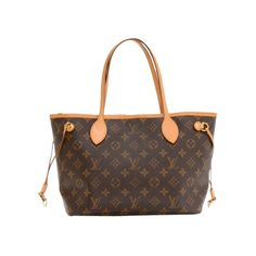 Pre-Owned Louis Vuitton Neverfull PM Monogram Canvas Shoulder Tote Bag ($630) ❤ liked on Polyvore