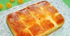 Easy sheet bread with feta cheese/ Bulgarian recipe Eastern European Recipes, European Cuisine, Bulgarian Recipes, Cheese Pies, Canadian Food, Home Baking, Tasty Bites, Food Humor, Dough Recipe
