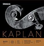 DAddario KS610 3/4M Kaplan Solo Double Bass String Set 3/4 Scale Medium Tension