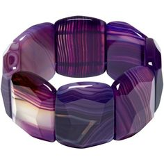 Lola Rose Tremont Stretch Bracelet, Purple Montana Agate (5,175 THB) ❤ liked on Polyvore featuring jewelry, bracelets, purple jewellery, stretchy bracelet, purple jewelry, agate jewelry and bracelet jewelry