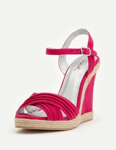 Pink wedges.  Another awesome summer shoe. $33. So cute. Would be better in yellow or turquoise color. -Hailey