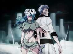 Neliel and Grimmjow by *Levilel on deviantART