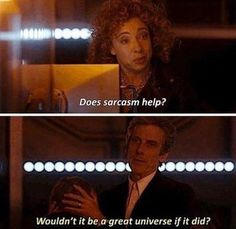 Shared by Find images and videos about doctor who, peter capaldi and river song on We Heart It - the app to get lost in what you love. Twelfth Doctor, 12th Doctor, Doctor Who 12, Doctor Who Funny, Virginia Woolf, Dr Who, Time Lords, Funny Videos, Funny Pics
