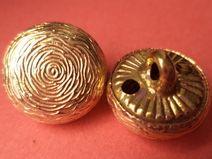 13 METALLKNÖPFE gold 14mm (2525) Knöpfe Metall