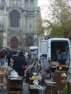 The French Brocante - I have been to several and they are delightful. Each small town surrounding Paris has one, and they each take place in the shadow of a beautiful cathedral - there's nowhere like Paris!