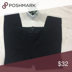 """J. Crew Minnie pant in bi-stretch wool Black Sz 4 Good pre owned condition -wear and tear on side zipper  Sits just above hip. Fitted through hip and thigh, with a slim, ankle-length leg. 27"""" inseam. J. Crew Pants Ankle & Cropped"""