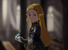 """dysah: """" Un año después del fallecimiento de su madre, Zelda empieza a ser agobiada por la presión que emana de su reino, para que lleve a cabo su obligación como Sacerdotisa de Hyrule. (A year after..."""