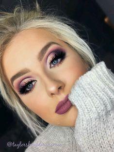 Cut off the fold. Purple eye makeup – Make-up-Ideen – Cut off the fold. Purple eye makeup – Make-up-Ideen – [. Purple Eye Makeup, Smokey Eye Makeup, Eyeshadow Makeup, Hair Makeup, Purple Smokey Eye, Cut Crease Makeup, Purple Eyeshadow Looks, Eyeshadow Palette, Purple Makeup Looks