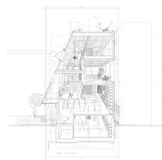 sectional perspective by Atelier Bow Wow, Japan Coupes Architecture, Architecture Design, Architecture Graphics, Japanese Architecture, Architecture Drawings, Section Drawing Architecture, Installation Architecture, Architect Drawing, Famous Architecture