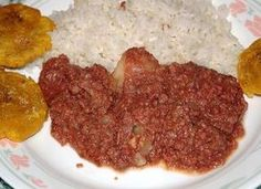 Arroz con corned beef - another Puerto Rican favorite that just about everyone has their own recipe for. My mom cut the potatoes into extremely thin french fries, did not use salt, and added a few olives. It was always served with a salad dish on the side, which basically consisted of lettuce and tomato with oil and vinegar. Love it!