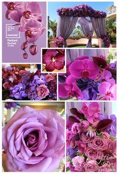 Orquídea Radiante es el color para bodas que  Pantone escogió para este 2014. #DecoracionBodas