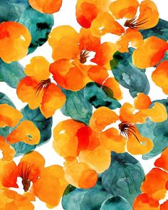 Watercolor print, ophelia pang